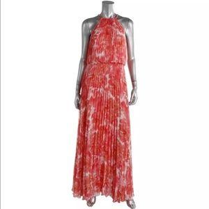 Stunning High Neck Blouson Maxi Dress